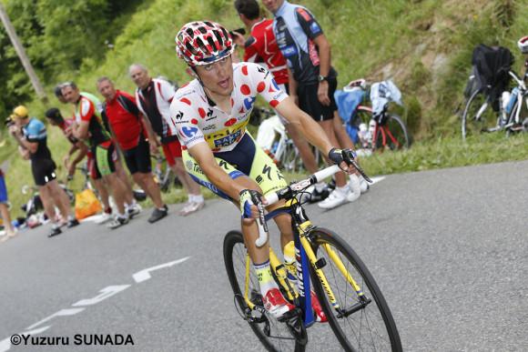 24 July 2014 101st Tour de France Stage 18 : Pau - Hautacam MAJKA Rafal (POL) Tinkoff - Saxo, Maillot a Pois, at Col du Tourmalet Photo : Yuzuru SUNADA