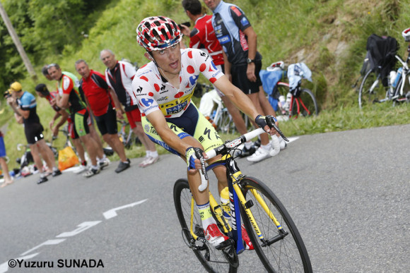 24 July 2014 101st Tour de France Stage 18 : Pau - Hautacam MAJKA Rafal (POL) Tinkoff - Saxo, Maillot a Pois, at Col du Tourmalet Photo : Yuzuru SUNADA